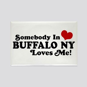 Somebody In Buffalo NY Loves Me Rectangle Magnet