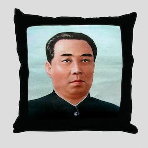 Kim Il-sung Throw Pillow