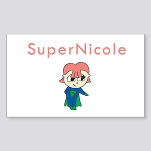 SuperNicole Rectangle Sticker