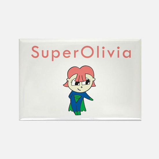 SuperOlivia Rectangle Magnet