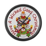 Wicked Good! Christmas Large Wall Clock