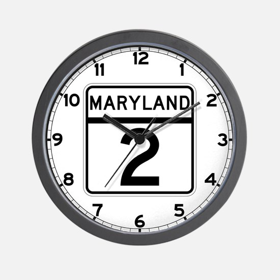 Route 2, Maryland Wall Clock