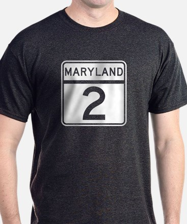 Route 2, Maryland T-Shirt