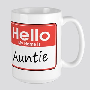 Hello, My Name is Auntie Large Mug