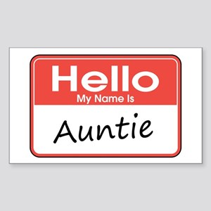 Hello, My Name is Auntie Rectangle Sticker
