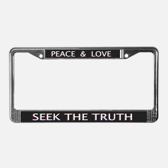 Seek The Truth - License Plate Frame