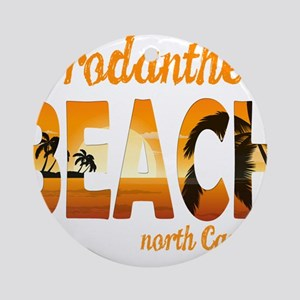 North Carolina - Rodanthe Round Ornament