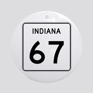 State Road 67, Indiana Ornament (Round)