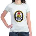 USS FLATLEY Jr. Ringer T-Shirt