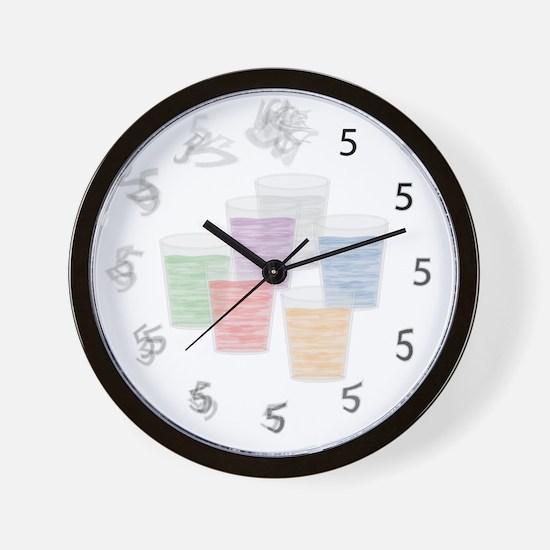 Fuzzy Shots Wall Clock