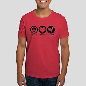 Peace Love Llamas Dark T-Shirt