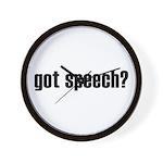 got speech Wall Clock