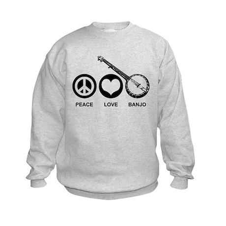 Peace Love Banjo Kids Sweatshirt