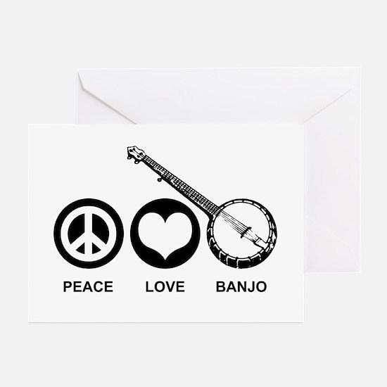Peace Love Banjo Greeting Cards (Pk of 10)