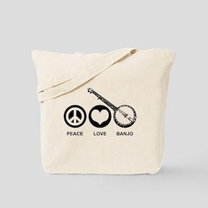 Peace Love Banjo Tote Bag