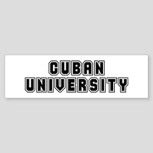 University Bumper Sticker