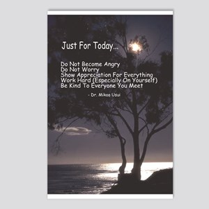 """Usui """"Just For Today"""" Postcards (Package of 8)"""