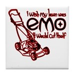 Emo Lawn Tile Coaster