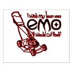 Emo Lawn Small Poster