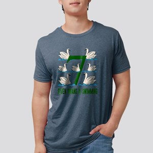 Seven Swans A Swimming Song 12 Days Christ T-Shirt