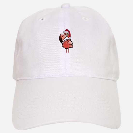 Christmas Flamingo Baseball Baseball Cap