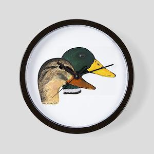 Mallard Ducks - Pair Wall Clock