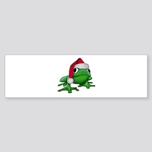 Christmas Frog Bumper Sticker