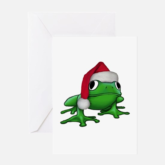 Christmas Frog Greeting Card