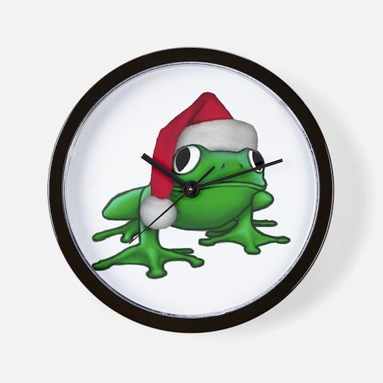 Christmas Frog Wall Clock