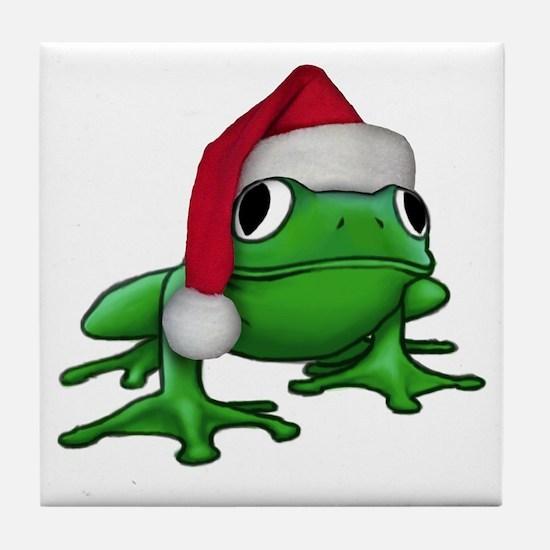 Christmas Frog Tile Coaster