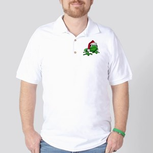 Christmas Frog Golf Shirt