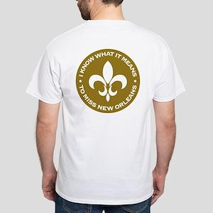 Katrina New Orleans White T-Shirt