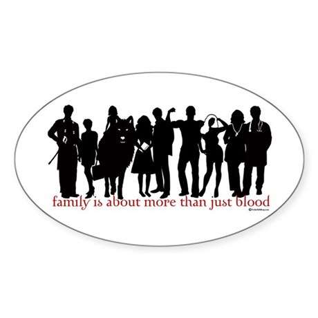 Cullen Family Silhouette Oval Sticker
