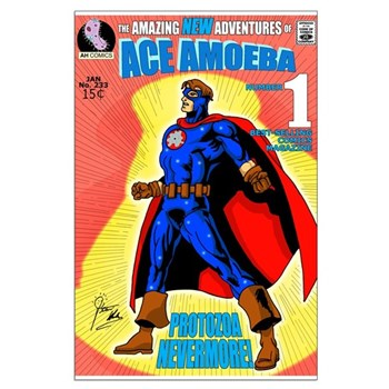 Ace Amoeba Large Poster