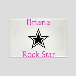 Brianna - Rock Star Rectangle Magnet
