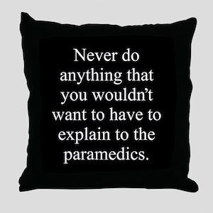 Paramedics Throw Pillow