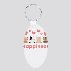 Cat Lover gift Happiness Can Be Measured Keychains