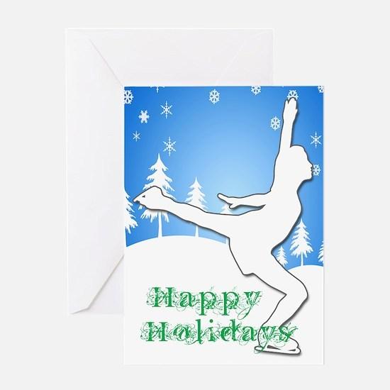 Holiday Skater Greeting Card