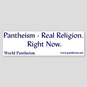 """""""Real Religion"""" Bumper Sticker"""