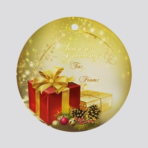 Gold Sparkles Holiday Gift Tag