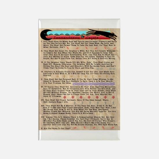 Commandments of Coyote Rectangle Magnet