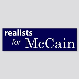 Realists For McCain Bumper Sticker