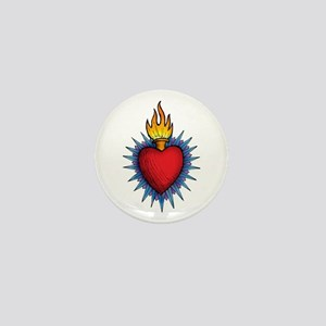 Sacred Heart 1 in Color Mini Button