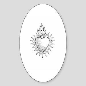 Sacred Heart Oval Sticker