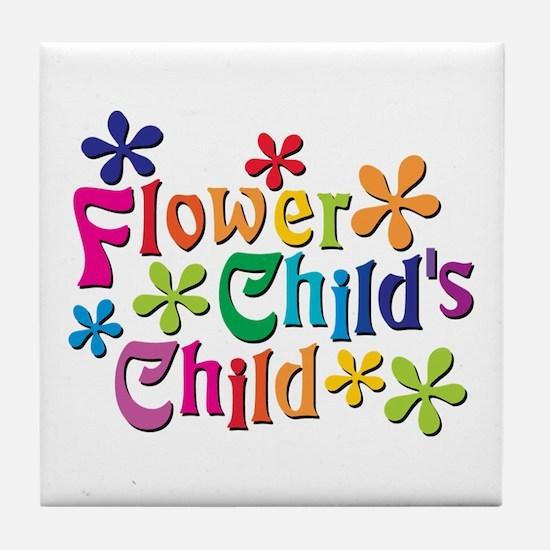 Flower Child's Child Tile Coaster