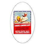 Navy Arise Americans Oval Sticker (10 pk)