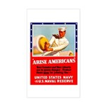 Navy Arise Americans Rectangle Sticker