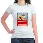 Navy Arise Americans (Front) Jr. Ringer T-Shirt
