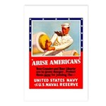 Navy Arise Americans Postcards (Package of 8)