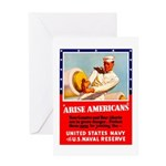 Navy Arise Americans Greeting Card